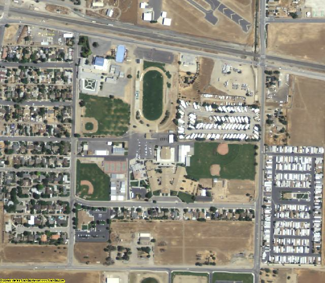 Kern County, CA aerial photography detail