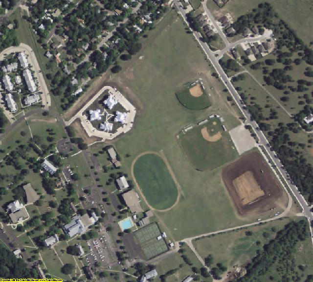 Kerr County, TX aerial photography detail
