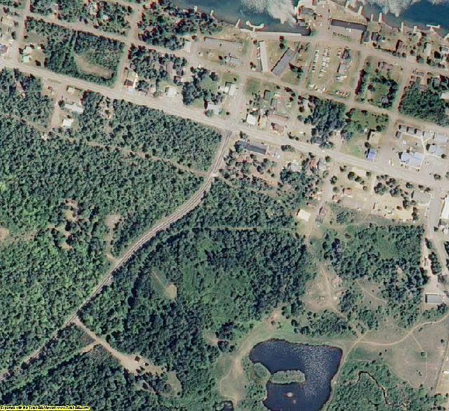 Keweenaw County, MI aerial photography detail