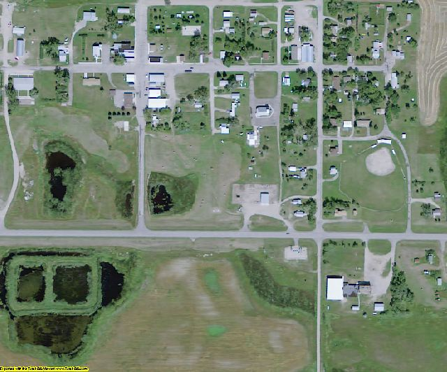 Kidder County, ND aerial photography detail