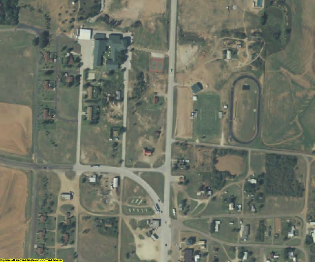 King County, TX aerial photography detail