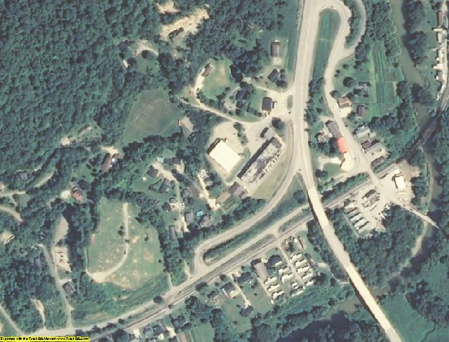 Knott County, KY aerial photography detail