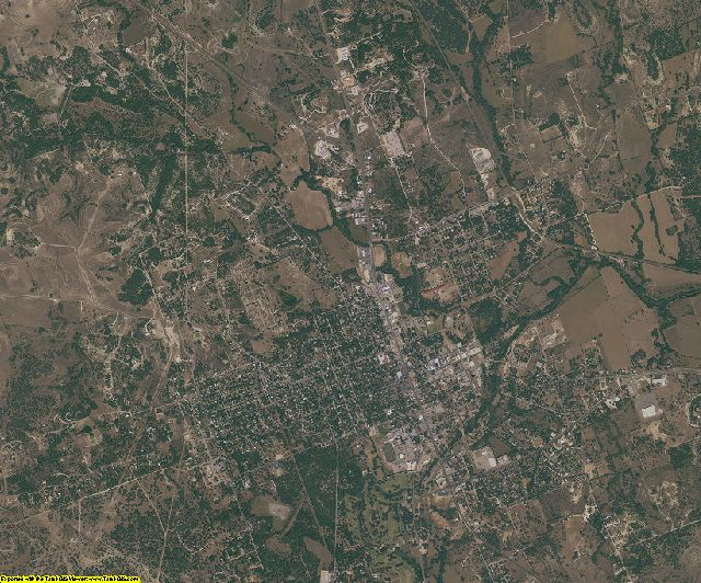 Lampasas County, Texas aerial photography