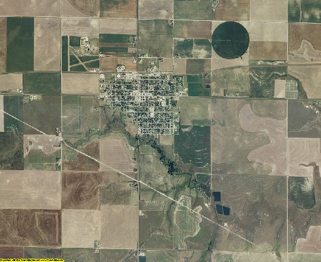 Lane County, Kansas aerial photography