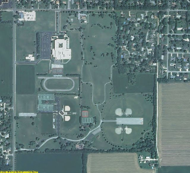 LaPorte County, IN aerial photography detail
