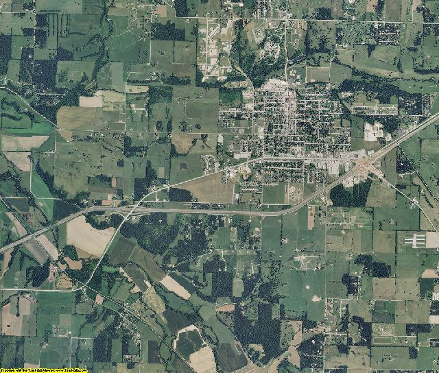 Lawrence County, Missouri aerial photography