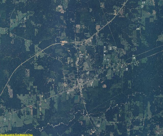Leake County, Mississippi aerial photography