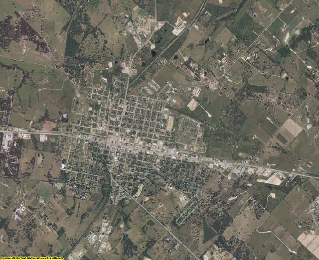 Lee County, Texas aerial photography