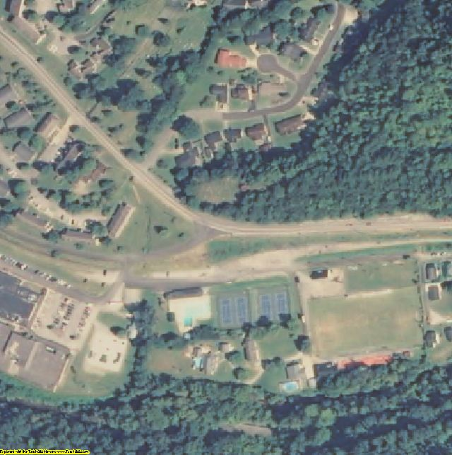 Letcher County, KY aerial photography detail