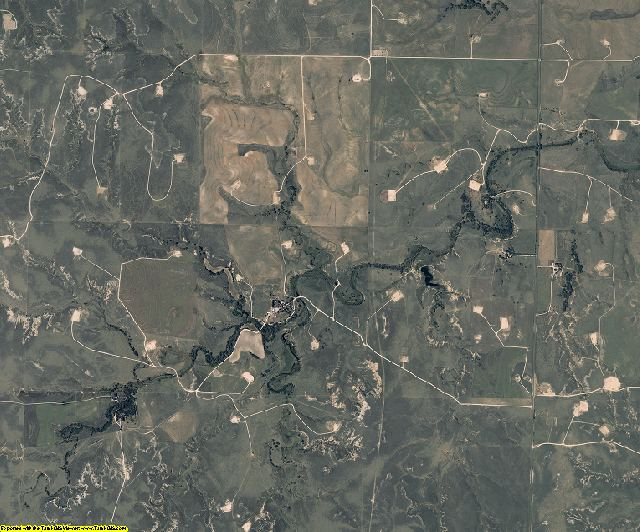 Lipscomb County, Texas aerial photography