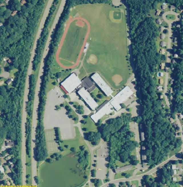 Litchfield County, CT aerial photography detail