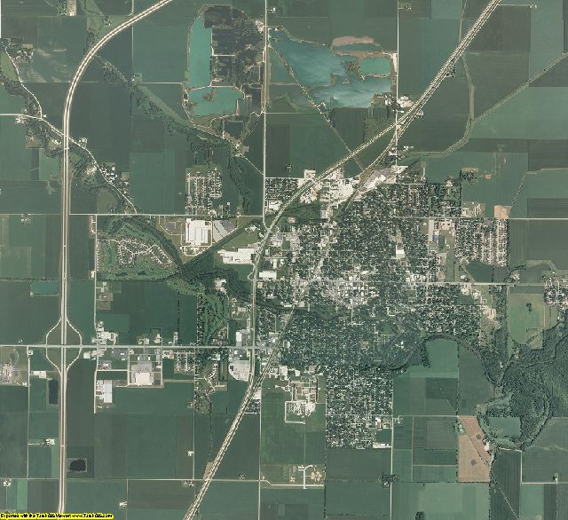 Livingston County, Illinois aerial photography