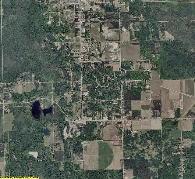 Luce County, Michigan aerial photography