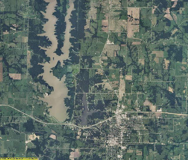 Macon County, Missouri aerial photography
