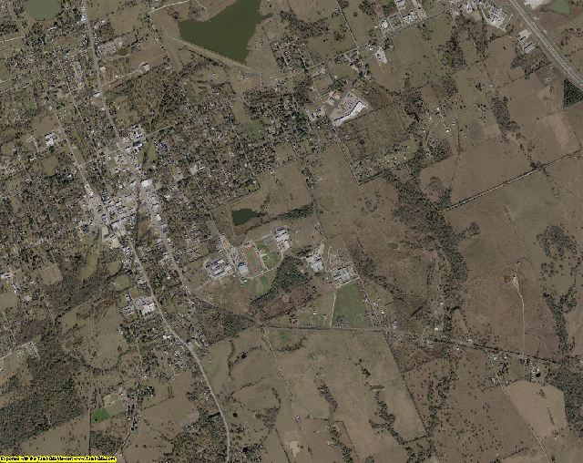 Madison County, Texas aerial photography