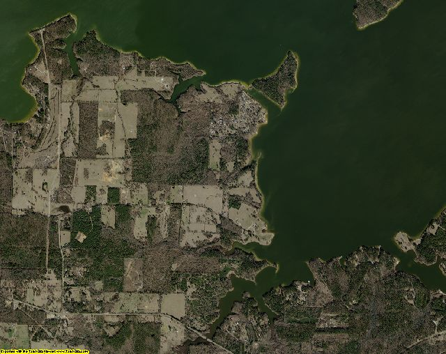 Marion County, Texas aerial photography