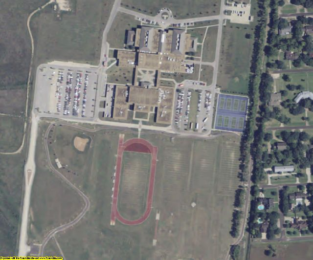 Matagorda County, TX aerial photography detail