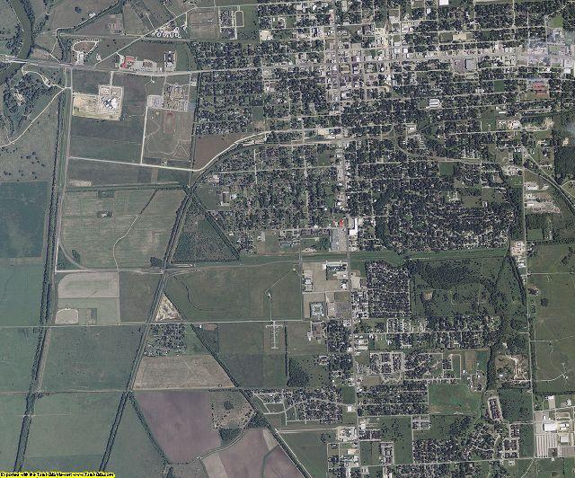 Matagorda County, Texas aerial photography