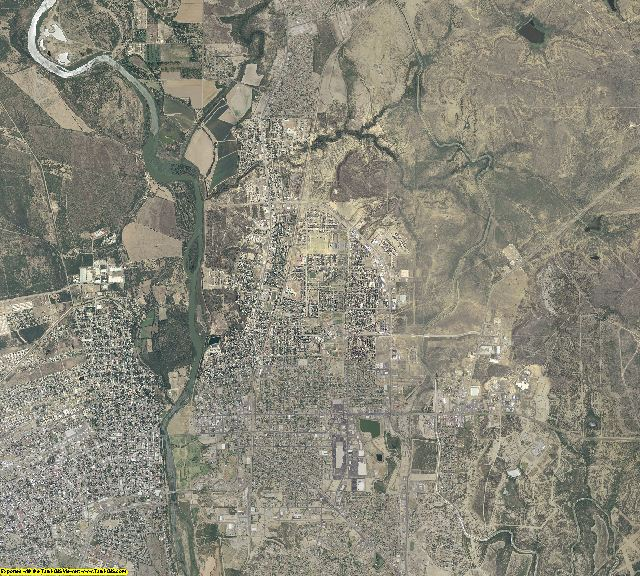Maverick County, Texas aerial photography