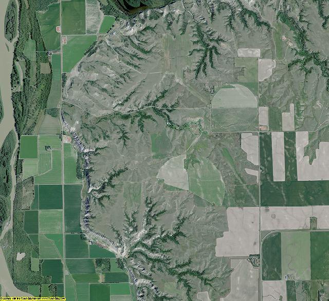 McKenzie County, North Dakota aerial photography