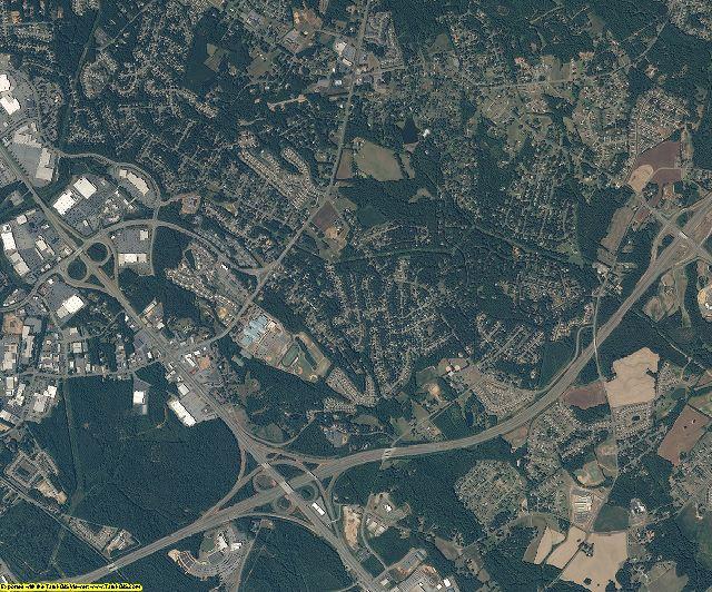 Mecklenburg County, North Carolina aerial photography