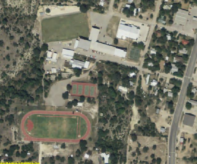 Menard County, TX aerial photography detail