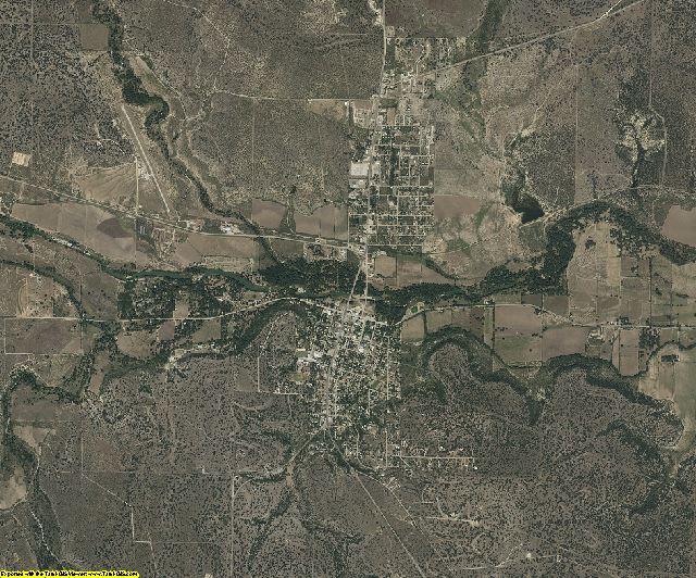 Menard County, Texas aerial photography