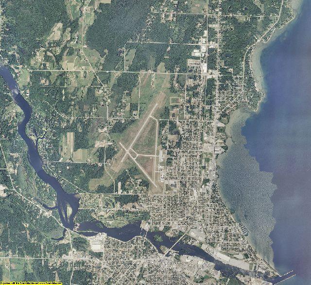 Menominee County, Michigan aerial photography
