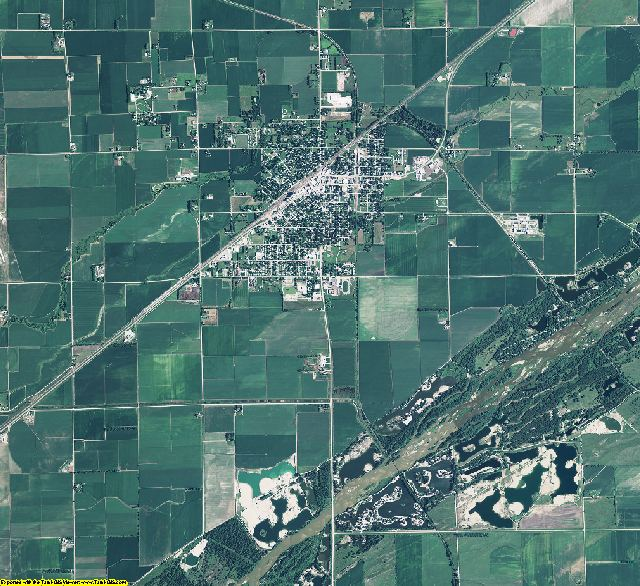 Merrick County, Nebraska aerial photography
