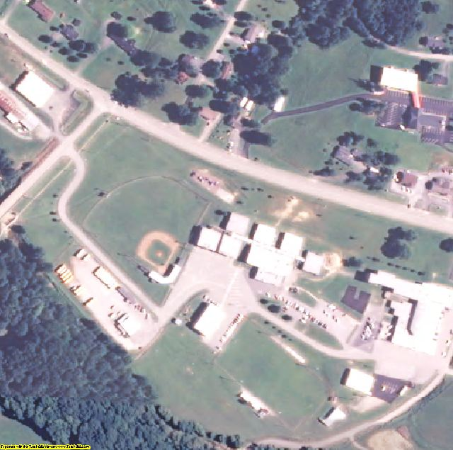 Metcalfe County, KY aerial photography detail