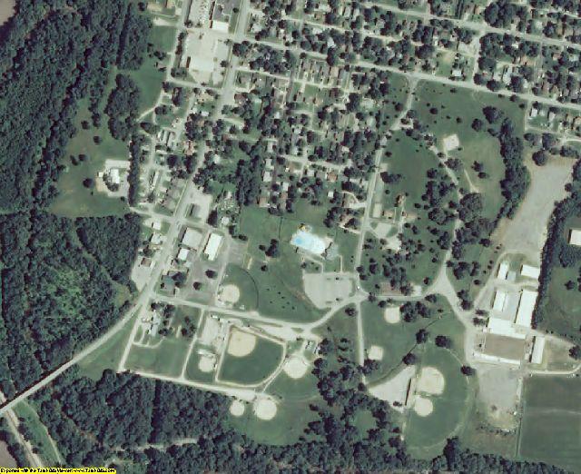 Miami County, KS aerial photography detail