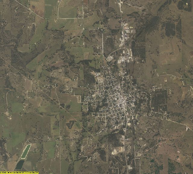 Mills County, Texas aerial photography