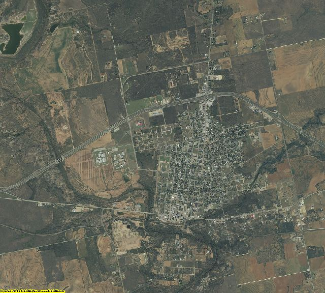 Mitchell County, Texas aerial photography