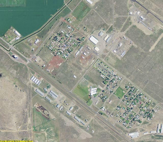 Modoc County, CA aerial photography detail