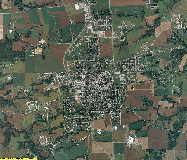 Monroe County, Illinois aerial photography