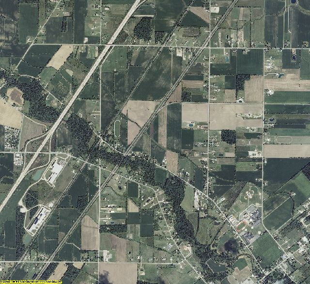 Monroe County, Michigan aerial photography