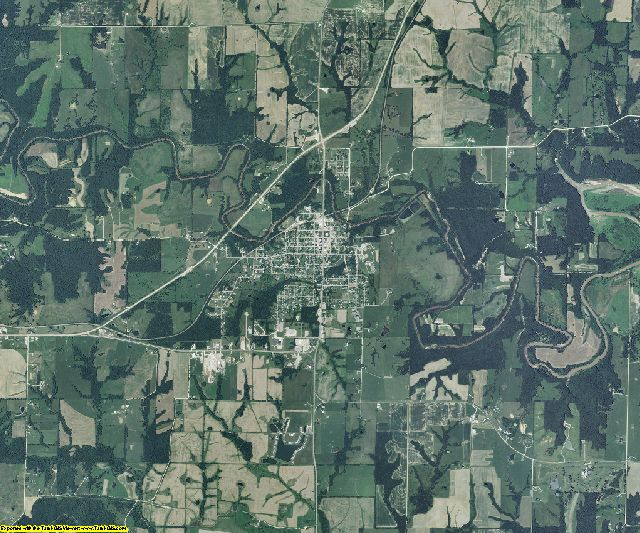 Monroe County, Missouri aerial photography