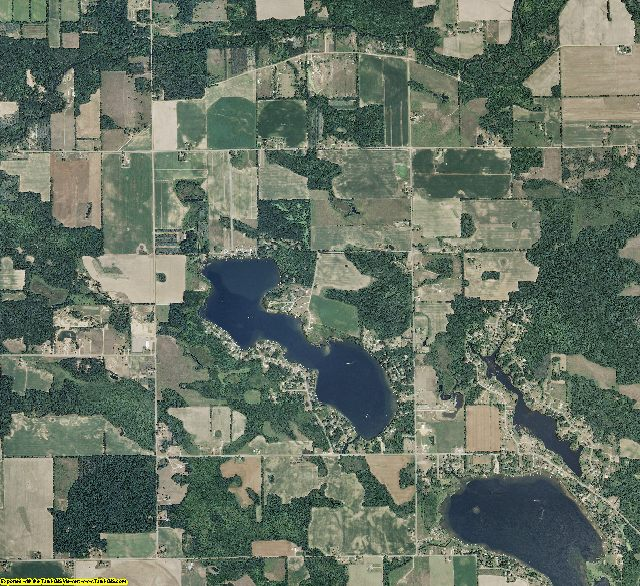 Montcalm County, Michigan aerial photography