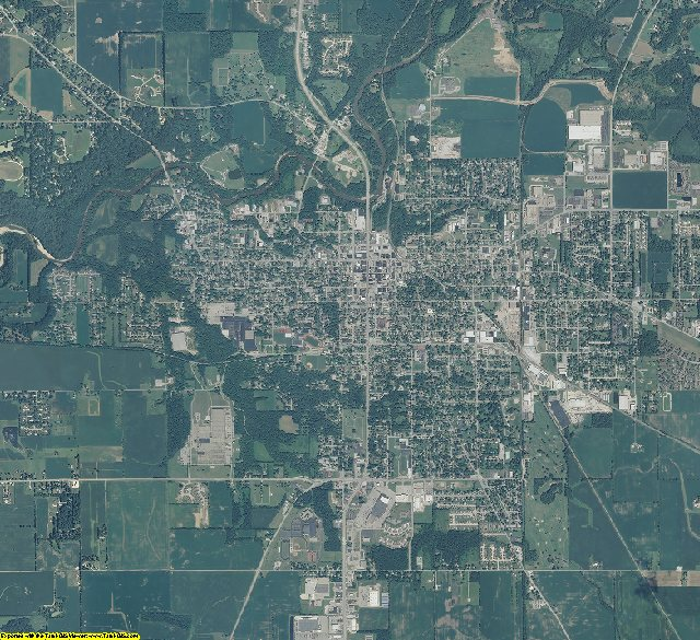 Montgomery County, Indiana aerial photography