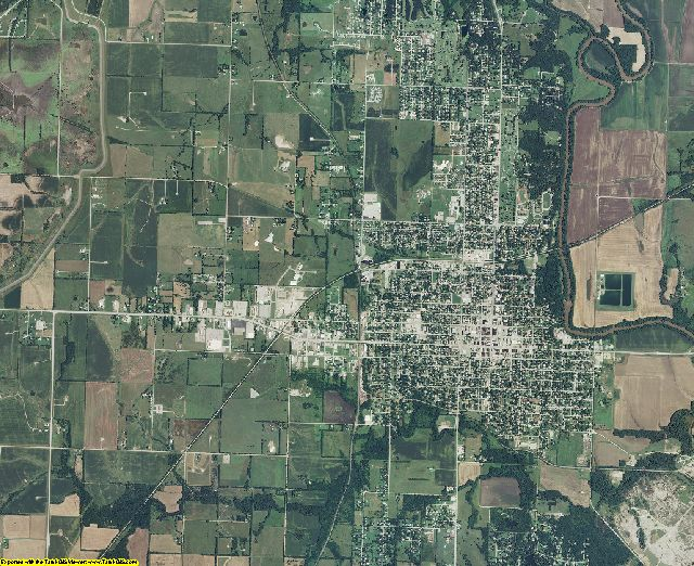 Montgomery County, Kansas aerial photography