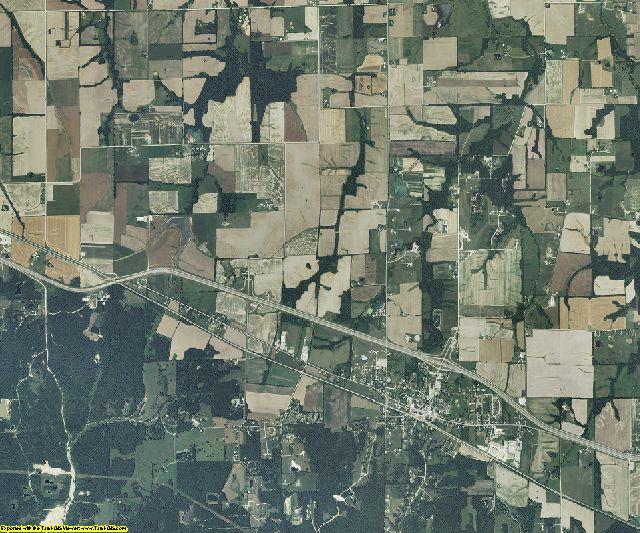 Montgomery County, Missouri aerial photography