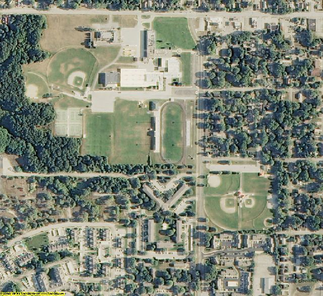 Muskegon County, MI aerial photography detail