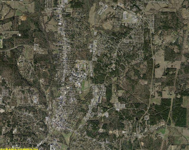 Nacogdoches County, Texas aerial photography