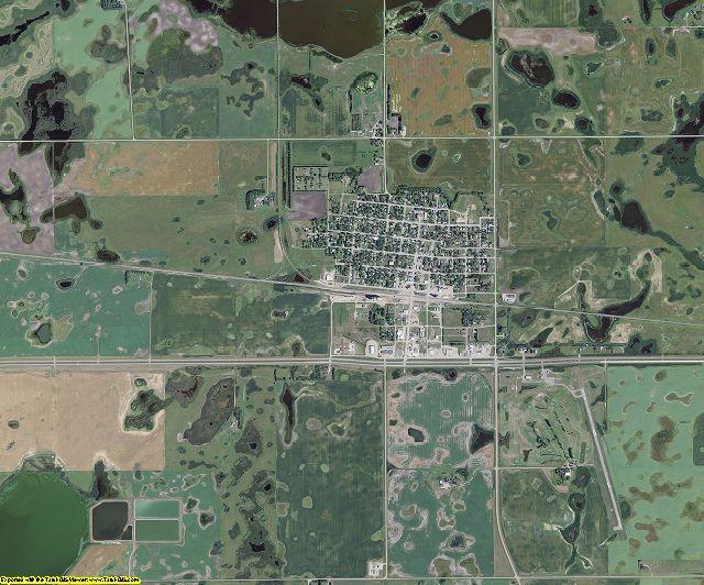 Nelson County, North Dakota aerial photography