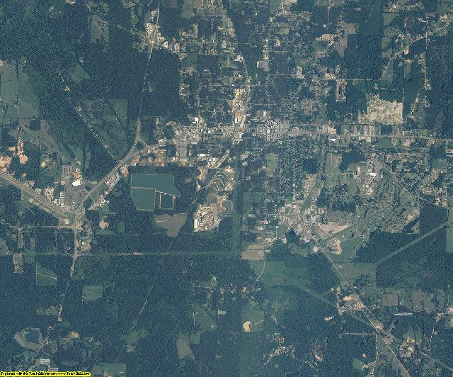 Neshoba County, Mississippi aerial photography