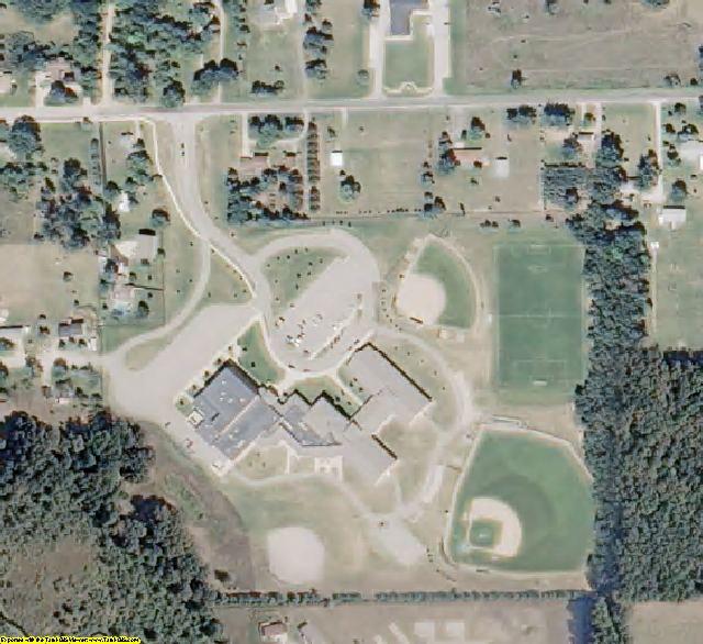 Newaygo County, MI aerial photography detail