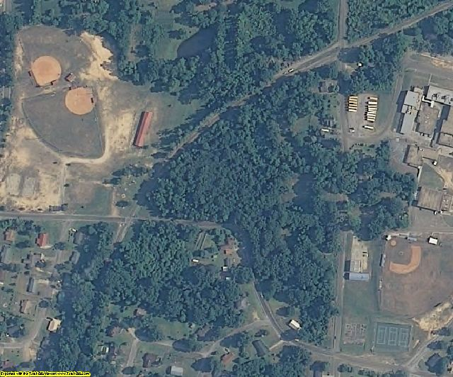 Newton County, MS aerial photography detail