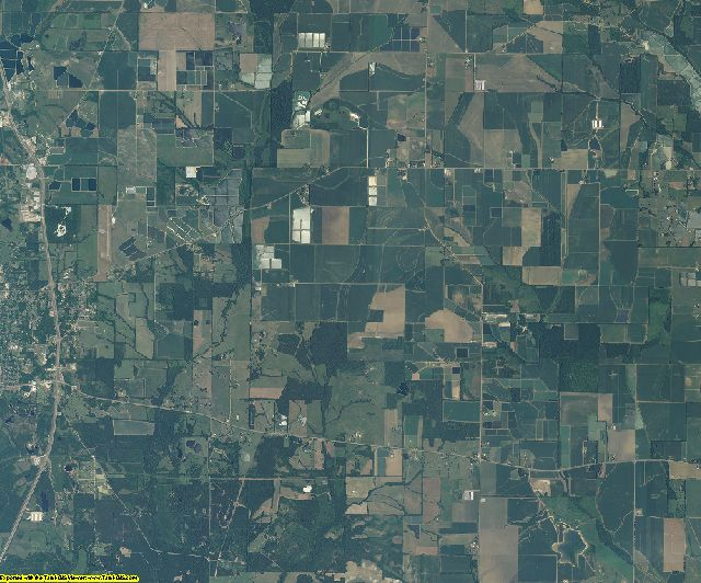 Noxubee County, Mississippi aerial photography