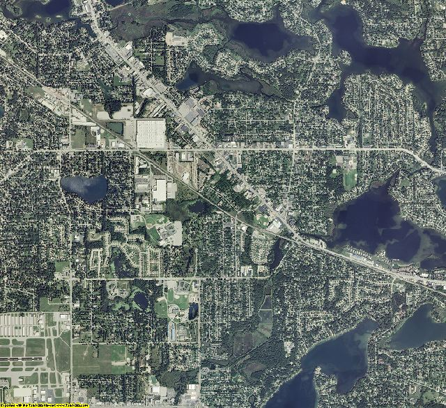 Oakland County, Michigan aerial photography