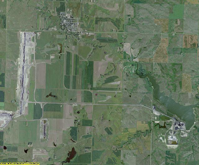 Oliver County, North Dakota aerial photography